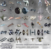 STAR WARS Fighters Space Ships Vehicles Icons PNG by jonathanrey
