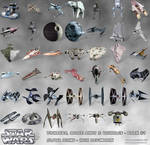 STAR WARS Fighters Space Ships Vehicles Icons PNG