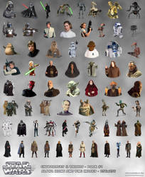 STAR WARS Characters and Droids Alpha Icons PNG