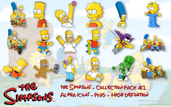 The Simpsons - Icons and PNG - Pack #1