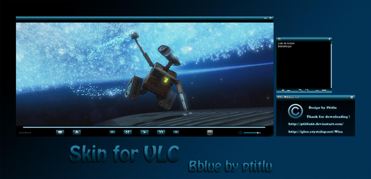 Bblue skin for VLC by Ptitlu60