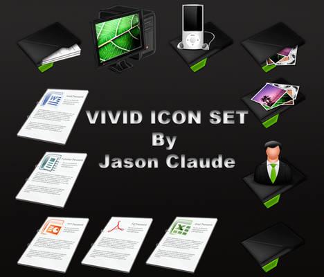 vivid icon set