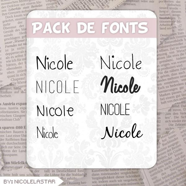 Fonts! :3 by nicolelastar