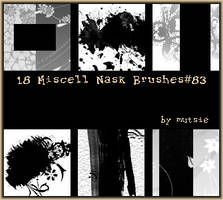 Miscell Mask Brushes No.83 by TaScha1969