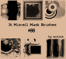Miscell Mask Brushes No.88 by TaScha1969