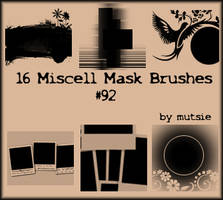 Miscell Mask Brushes No.91 by TaScha1969