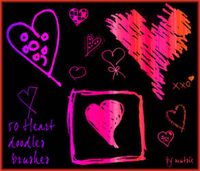 50 Heart doodles no.01 by TaScha1969