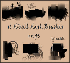 Miscell Mask Brushes No.93 by TaScha1969