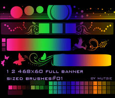 Full Banner Brushes No.01 by TaScha1969