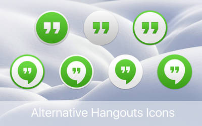Alternative Yosemite-like Hangouts icons by gusbemacbe
