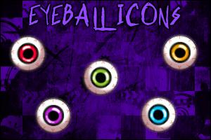 Eyeball Icons by ayujochuu