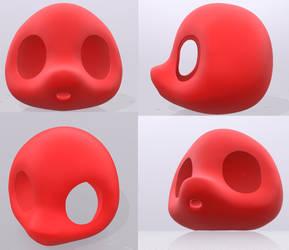 Chibi Headbase 3D Model by rabudorimu
