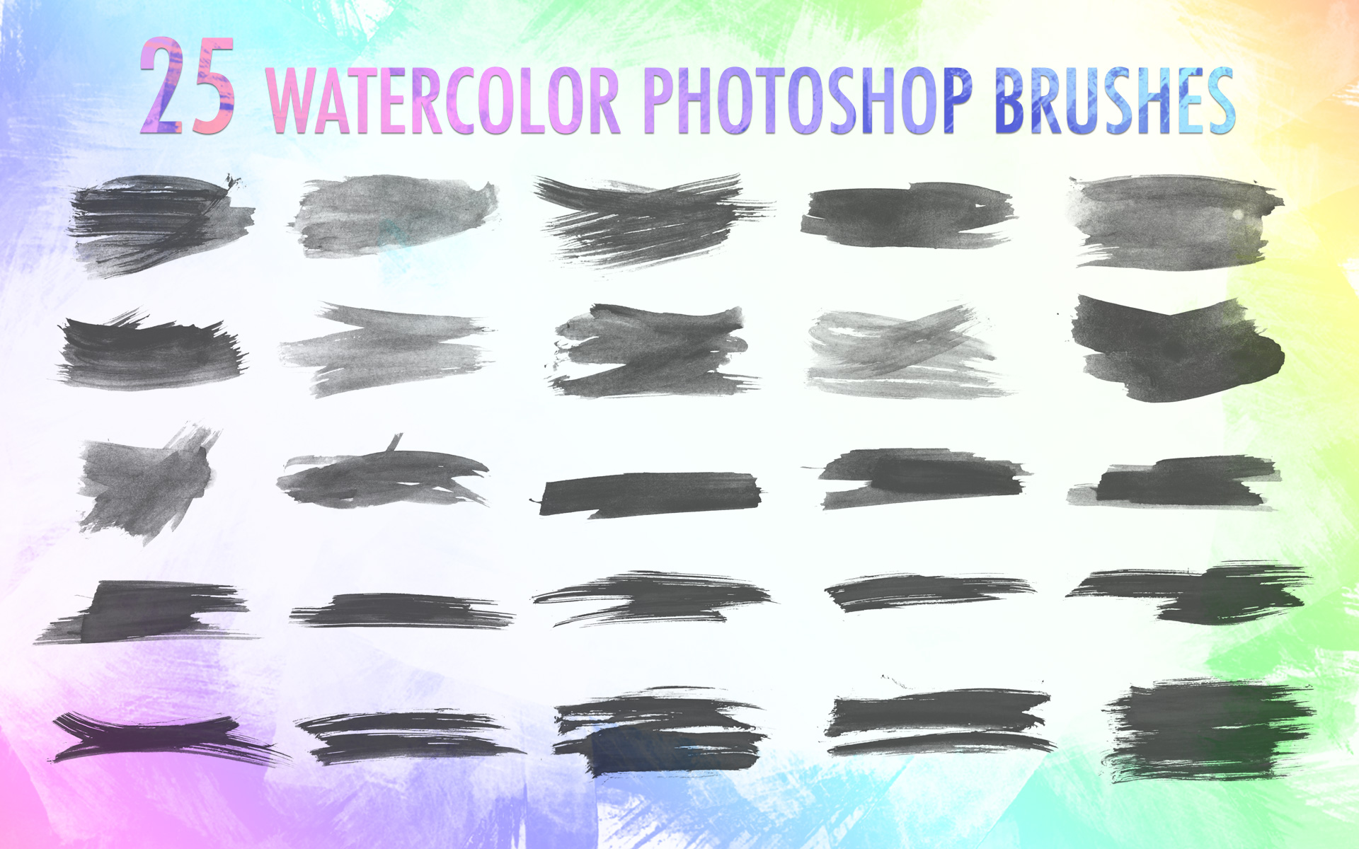 watercolor brushes for photoshop