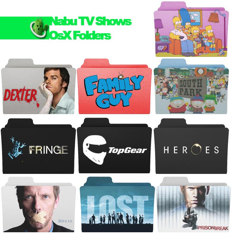 Tv show folder pack by nabucodorozor on deviantart for Craft shows on tv