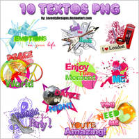 10 Textos Png by loveelydesigns