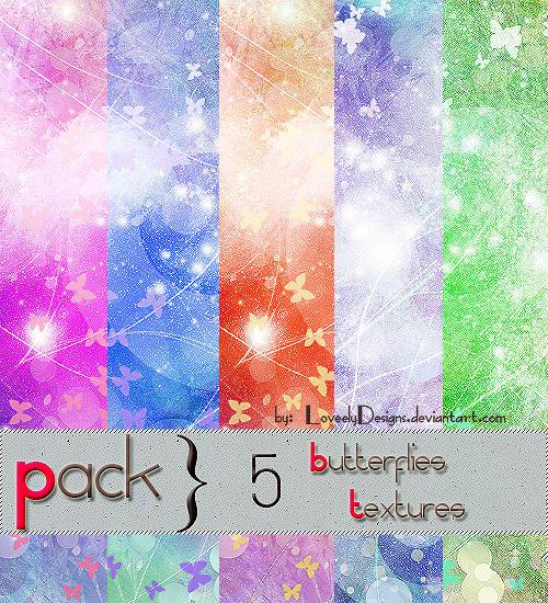 Pack 5 Butterflies Textures Pack_Butterflies_Textures_by_loveelydesigns