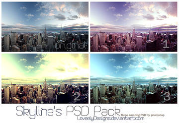 Skyline's PSD Pack by loveelydesigns