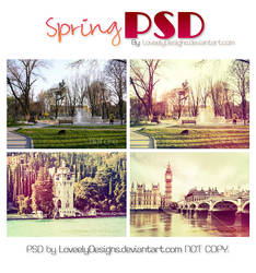 Spring PSD by loveelydesigns