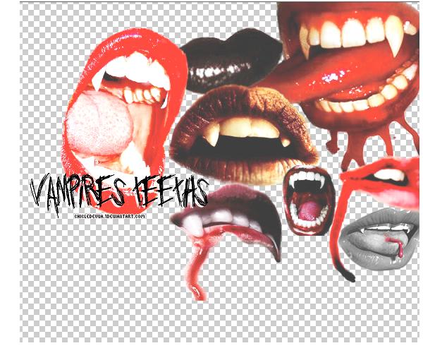 Vampires teeths PNG by chicledeuva1