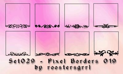 Set029 - Pixel Borders 019 by wolfgrrlone