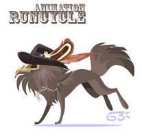 Cuddleface run animation by griffsnuff