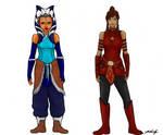 Ahsoka and Korra Outfit Swap