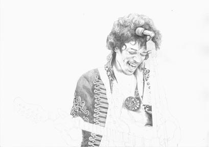 Jimi Hendrix Sketch Time Lapse gif