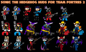 Sonic the Hedgehog huds for TF2