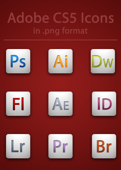 Adobe CS5 Icons by BrienOCD