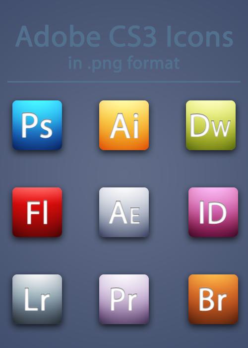 Adobe CS3 Icons by BrienOCD