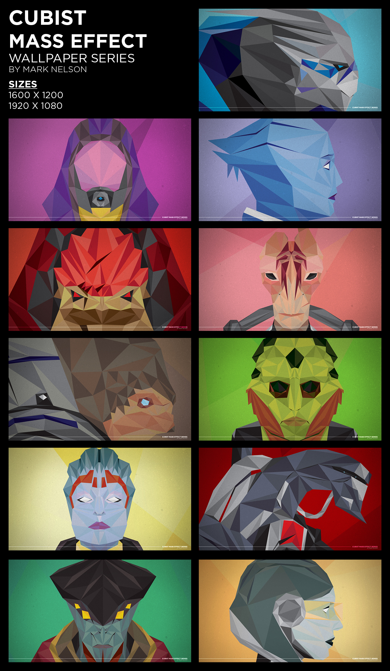 Cubist Mass Effect Wallpaper Series by TheCuraga
