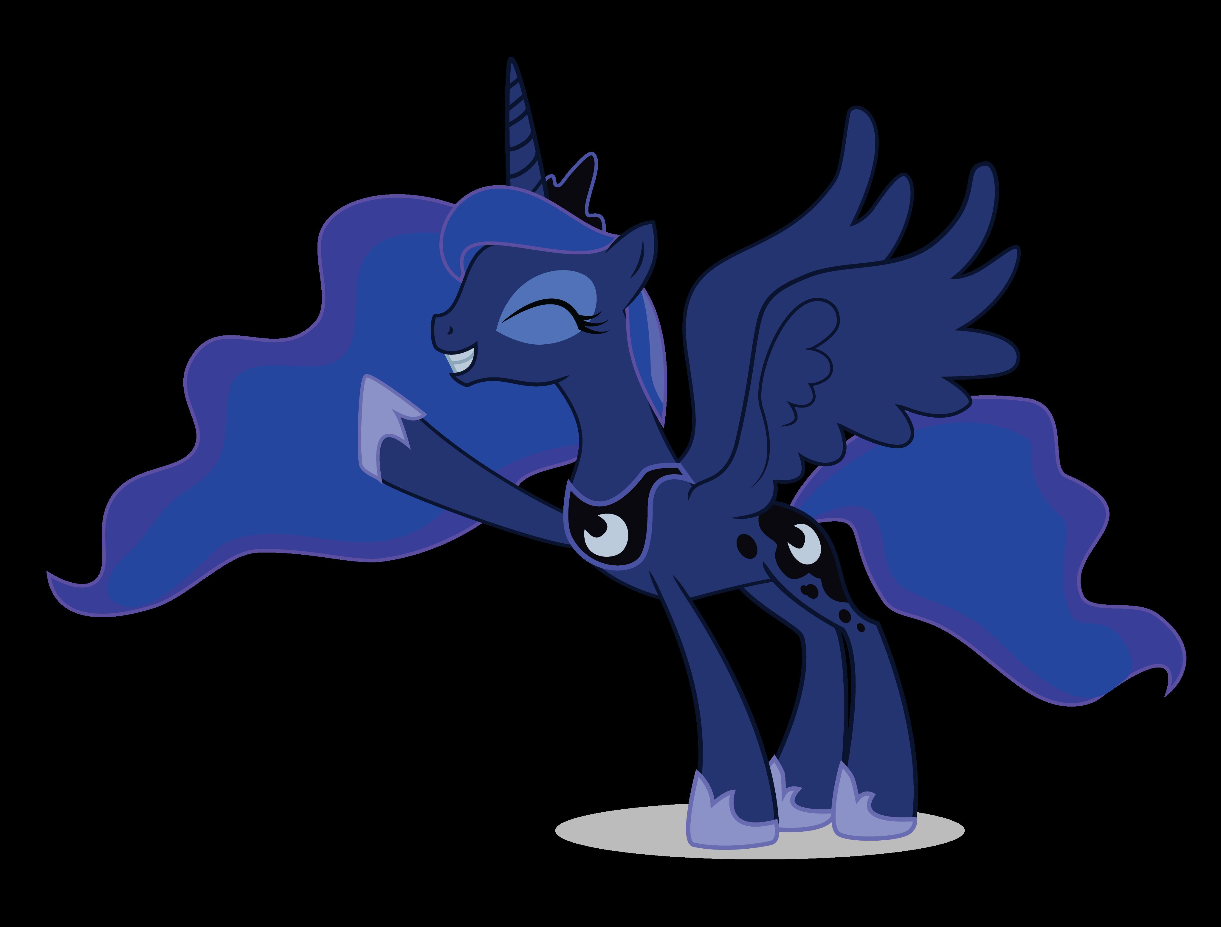Happy Princess Luna by Slawe on DeviantArt