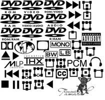 Dvd Symbols PS Brushes by TamaraP