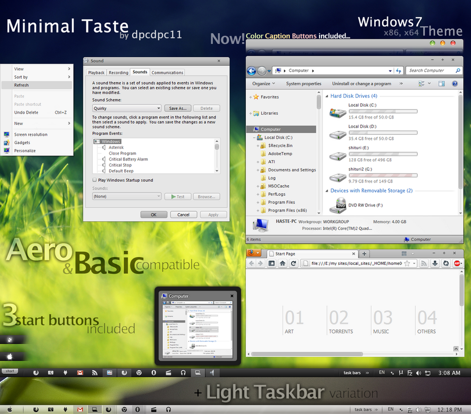 Minimal Taste for Windows7 by dpcdpc11