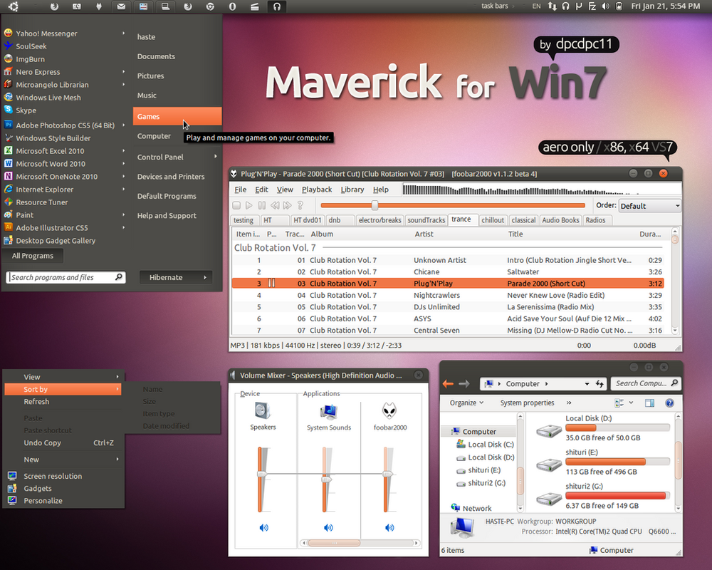 download tema maverick untuk windows 7