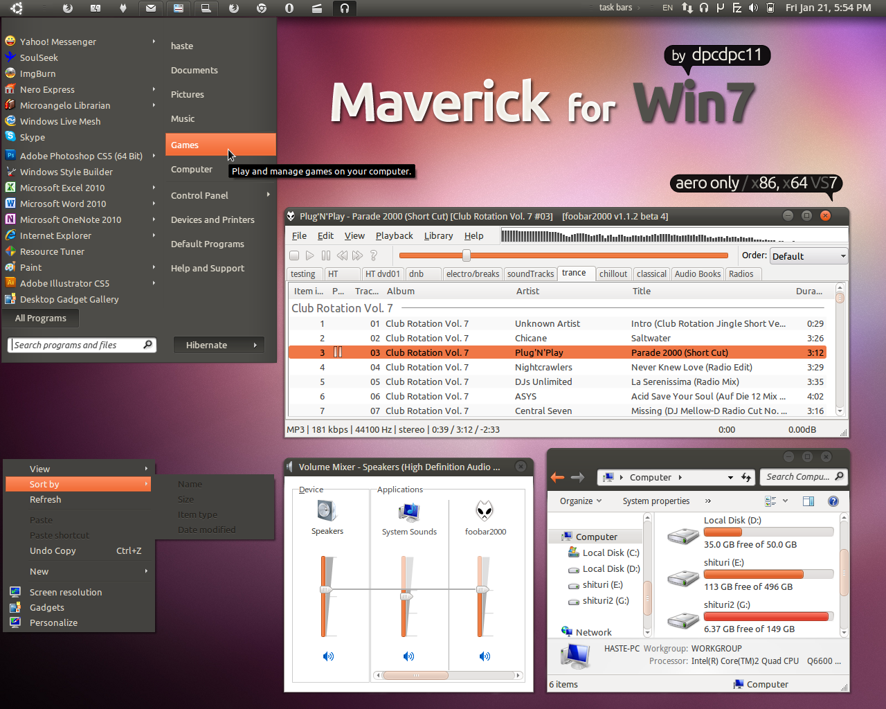 Maverick for Win7 by dpcdpc11