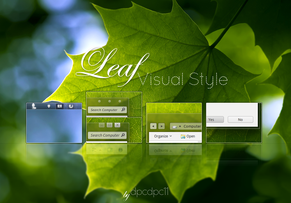 Leaf Visual Style for Windows7 by dpcdpc11