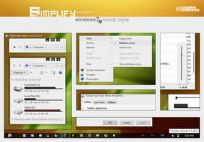 Simplify Visual Style for Windows7 by dpcdpc11