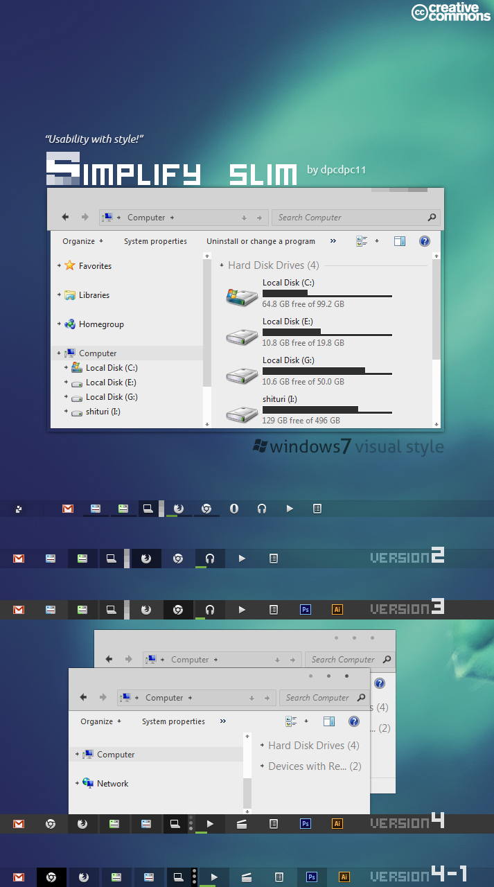 Simplify Slim VS for Windows 7
