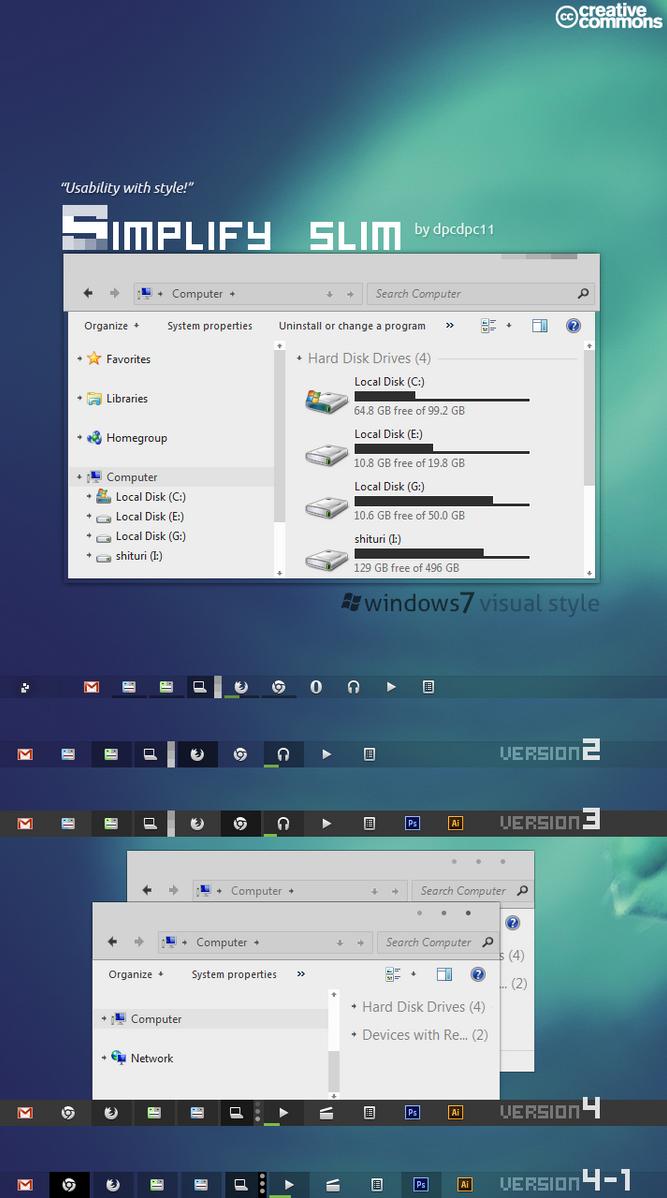 Simplify Slim VS for Windows 7 by dpcdpc11