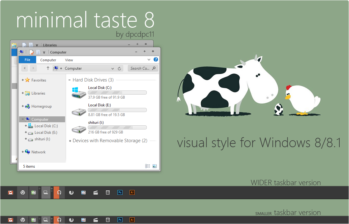 Minimal Taste 8 for Win 8/8.1 by dpcdpc11
