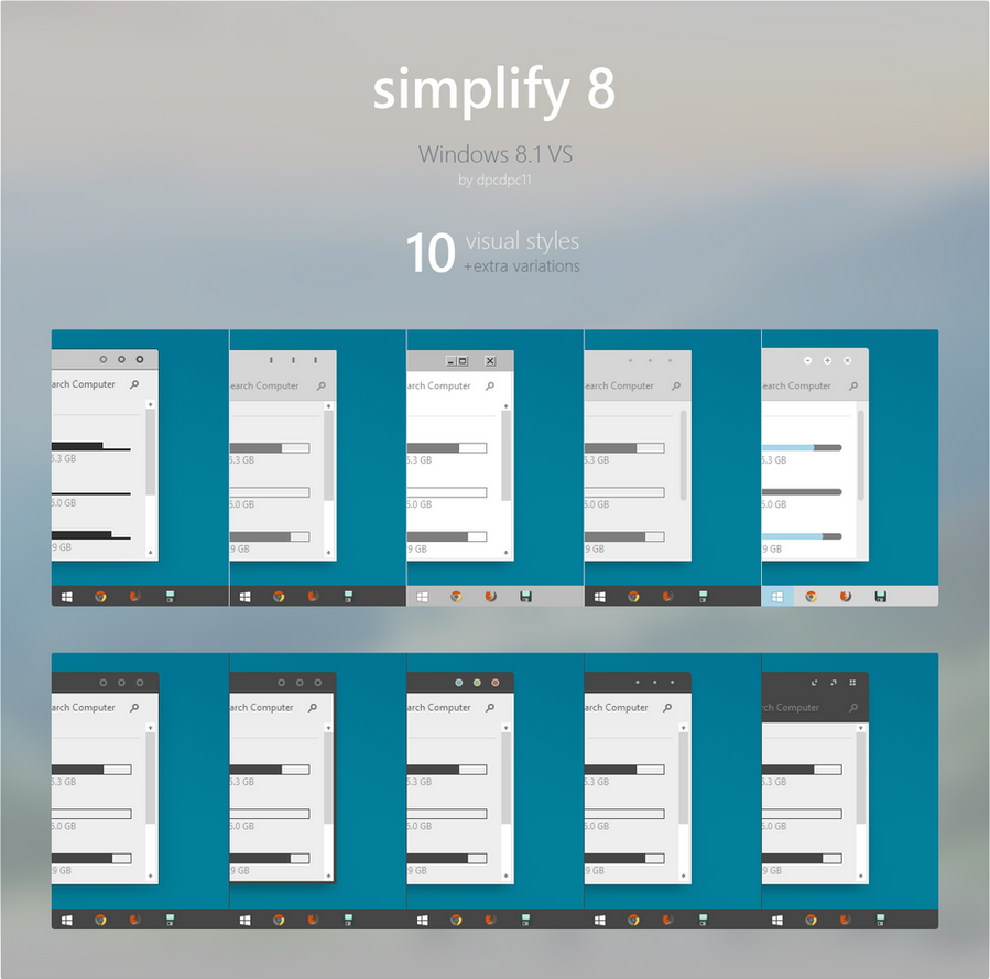 Simplify 8 Theme Pack for Windows 8.1 by dpcdpc11