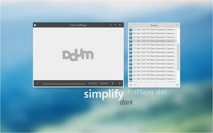 Simplify Dark for PotPlayer by dpcdpc11