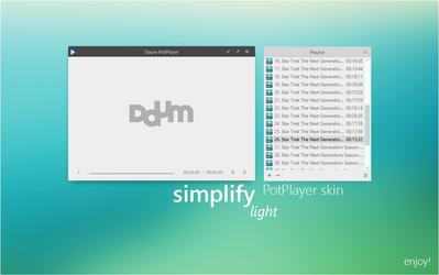 Simplify Light for PotPlayer by dpcdpc11