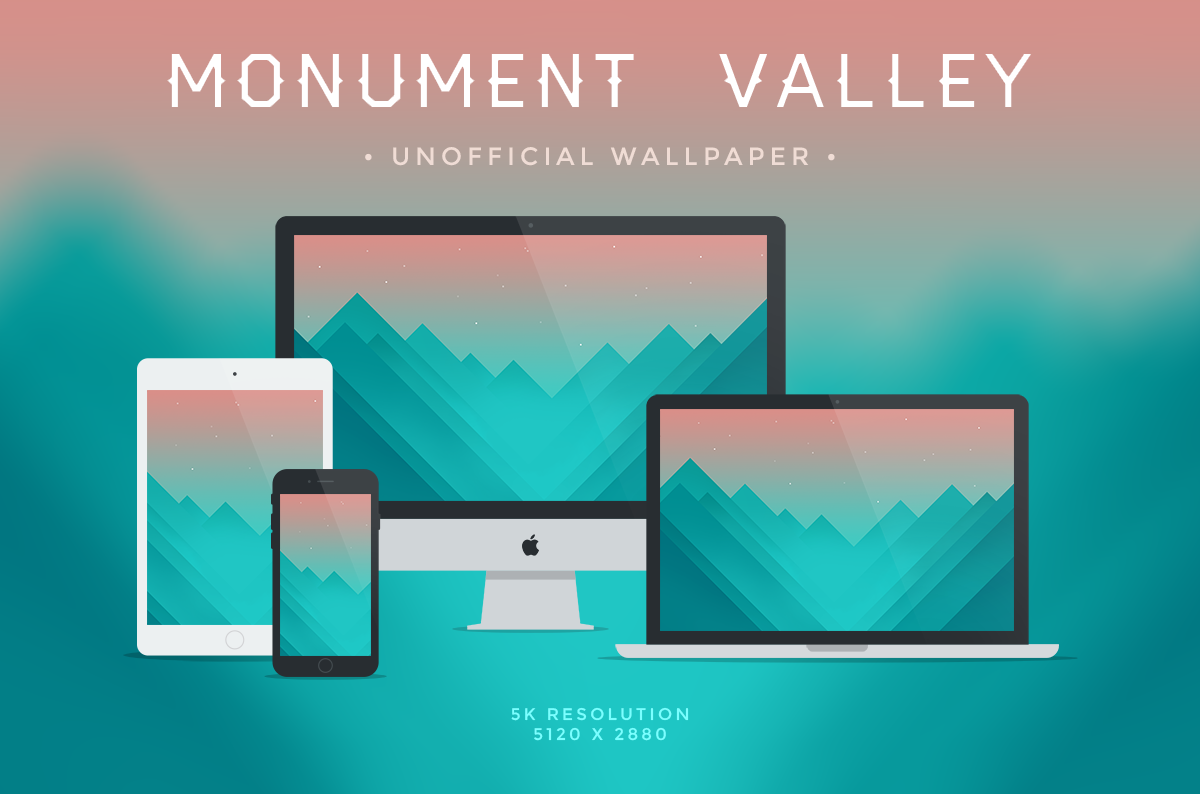 Monument Valley Unofficial Wallpaper 5k By Dpcdpc11 On Deviantart