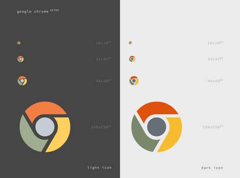 Google Chrome Retro Icon