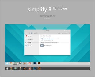 Simplify 8 Light Blue - Windows 8.1 VS by dpcdpc11