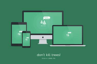 Don't Kill Trees Wallpaper 5120x2880px