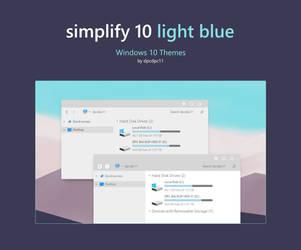 Simplify 10 Light Blue - Windows 10 Theme by dpcdpc11