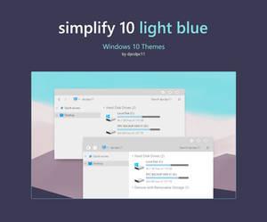 Simplify 10 Light Blue - Windows 10 Theme